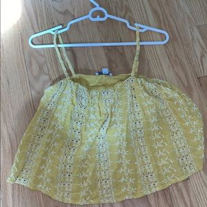 Yellow tank top from American eagle